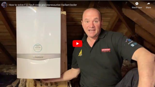 boiler keeps losing pressure F22 fault