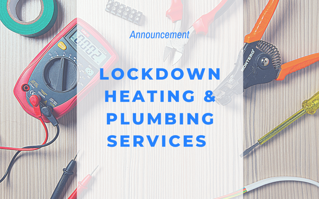 plumbing services during Covid Lockdown
